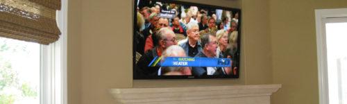 HDTV Installation Above Fireplace