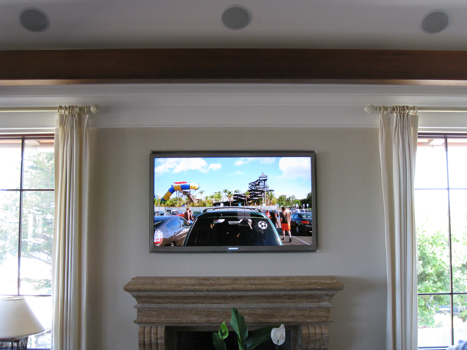 HDTV Installation Above Fireplace